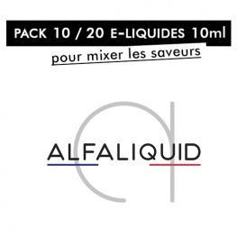 Pack 10 / 20 liquides 10ml Alfaliquid