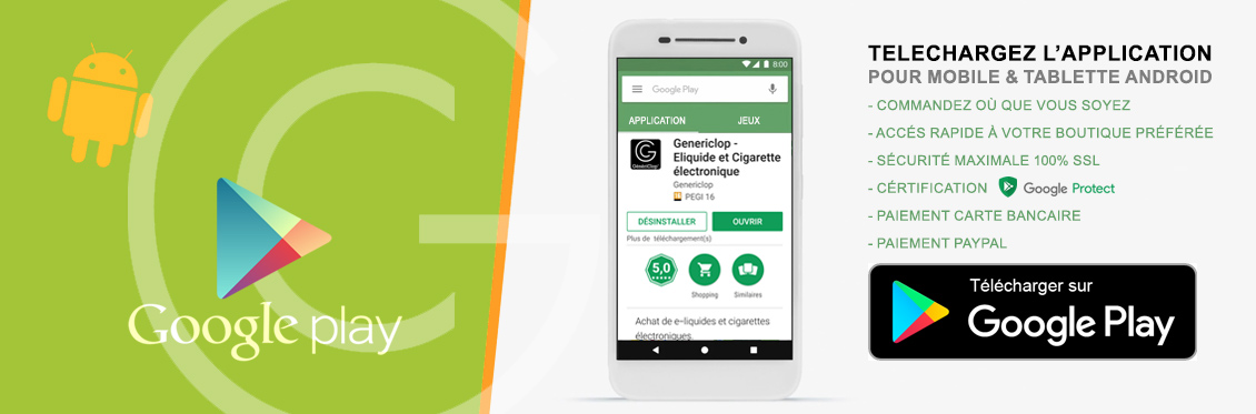application android genericlop e-liquide et cigarette électronique